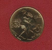 G 487) San Marino 1979: 200 Lire, Stempelglanz, HERKULES, Staatswappen - San Marino