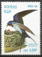 Laos - MNH - Family SWALLOWS And MARTINS : Barn Swallow ( Hirundo Rustica ) - Zangvogels