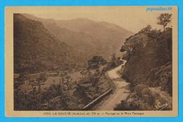 ** LA SOUCHE (Ardèche) Alt. 550m , PAYSAGE SUR LE MONT TARNAGUE ** - France