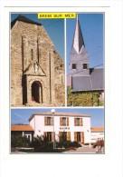 85 Brem Sur Mer Vues Diverses Eglise Et Mairie Carte 3 Vues - Frankrijk