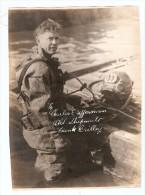 Grande Photo Scaphandrier Frank William Crilley 23.7 X 17 Cm Environ - Personas Identificadas