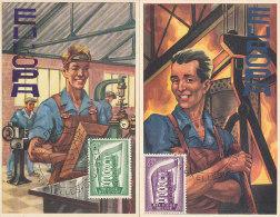 D22134 - 2 CARTES MAXIMUM CARDS FD 1956 BELGIUM - EUROPA CEPT CP ORIGINAL - 1956