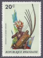 Rwanda 1973  - Musical Traditional Instruments, Art, Tourism, African Music, Musica Tradizionale Africana MNH - Rwanda