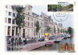 D22137 CARTE MAXIMUM CARD FD 2014 NETHERLANDS - WORLD HERITAGE UNESCO AMSTERDAM CANALS CP ORIGINAL - Architecture