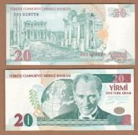 AC - TURKEY - 8TH EMISSION 20 YTL G 01 UNCIRCULATED - Turquie
