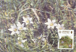 D22151 CARTE MAXIMUM CARD FD 1986 JERSEY - LOCAL FLOWERS CP ORIGINAL - Jersey