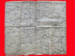 Ancienne Carte Des CHEMINS DE FER DE BELGIQUE - Sur Papier De Soie - Début 1900  (4123) - Geographische Kaarten