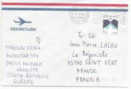 REPUBLIQUE TCHEQUE LETTRE DE MNICHOVO HRADISTE POUR LA FRANCE 2008 - Tchéquie