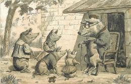 FAMILLE COCONS HABILLES. - Cochons