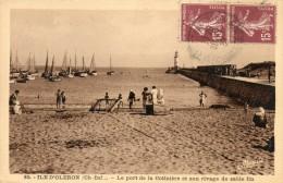 CPA ILE D OLERON. Le Port De La Cotiniere Et Son Rivage De Sable Fin. 1937 - Ile D'Oléron