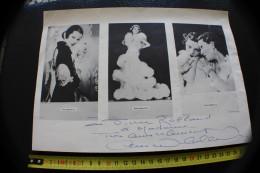 3 PHOTOGRAPHIE's,ORIGINAL Dédicacée DE ANNABELLA à PIERRE ROLLAND SUPPORT PROGRAMME/PUBLICITAIRE Actrice Française=>VOIR - Signed Photographs