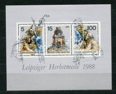 DDR  Nr.3193/5  Block 95          **  Mint             (19138) ( Jahr 1988 ) - [6] Democratic Republic