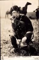 RP: MILITARY INTEREST ~ SOLDIER USING BELGIAN FIELD TELEPHONE - Equipment