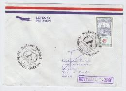 Czech Republic AIRMAIL COVER NELSON ISLAND WHALE PENGUIN 1999 - Francobolli