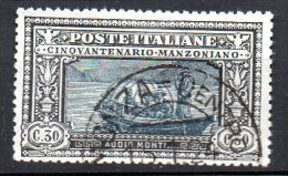 1923 Regno Alessandro Manzoni N. 153 Y&T N. 148  30 Cent Timbrato  Used Centrato - 1900-44 Vittorio Emanuele III