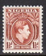 Nigeria GVI 1938-51 1½d Brown Definitive, Perf. 12, MNH - Nigeria (...-1960)