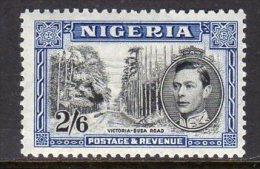 Nigeria GVI 1938-51 2/6d Black & Blue Definitive, Perf. 12, MNH - Nigeria (...-1960)