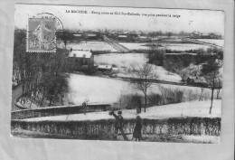 LA Machine Etang Jaune Et Cité Ste Eudoxie,vue Prise Pendant La Neige - La Machine