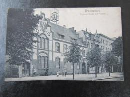 Cpa/pk Oranienburg Bernauer Strabe Mit Postamt With Stamp On Back - Oranienburg