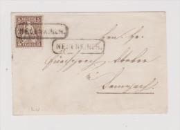 Heimat LU NEUENKIRCH Langstempel Im Kasten Brief Mit 5Rp Sitzende - Lettres & Documents