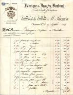 63.CLERMONT-FERRAND.FABRIQUE DE DRAGÉES,BONBONS,FRUITS CONFITS.VALLON DE LA VILLETTE & PRUNIERE. - Food