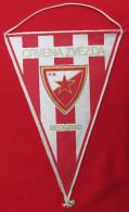 FOOTBALL / SOCCER / FUTBOL / CALCIO - FK CRVENA ZVEZDA RED STAR, Belgrade, Serbia, Vintage Big Pennant, Wimpel - Habillement, Souvenirs & Autres