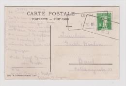 Heimat LU EBIKON 1909-07-15 Aushilfstempel Auf AK Nach Basel - Suisse
