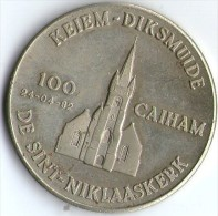 2702 Vz Keiem-Diksmuide 100 Caiham De Sint-Niklaaskerk - Kz Diksmuide Door De Eeuwen Heen - Jetons De Communes