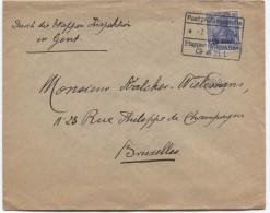 Guerre-Oorlog 14-18 TP Oc 31 S/L.c.Postüber...7/5/17 Censuren Etappen Gent ...  écrite De Meerdonk V.Bruxelles PR2792 - [OC26/37] Staging Zone