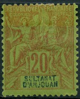 Anjouan (1892) N 7 * (charniere)