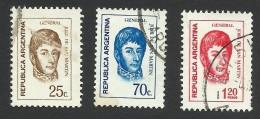 Argentina, 3 Stamps 1971-74, Sc # 933,936,1036, Used - Usati