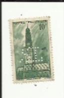 Timbre 10 Frs -Beffroi D'Arras_ G F _Perforé ( S  L )  Bon Etat 1942 - Frankrijk