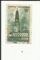Timbre 10 Frs -Beffroi D'Arras_ G F _Perforé ( C  F )  Bon Etat 1942 - Frankrijk