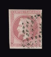 COLONIES EMISSIONS GENERALES N° 10 80c Rose Napoléon III Oblitéré. Cote Yvert 130 €.TTB