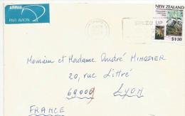 NOUVELLE ZELANDE LETTRE AVION POUR LA FRANCE 1987 - New Zealand