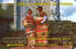 TONGA $10 WOMAN & MAN IN NATIVE DRESSES OFF 1ST SET  GPT  TON-2  READ DESCRIPTION  !! - Tonga