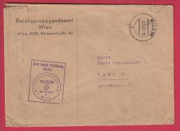 204246 / WW2 - 1942 - REICHSPROPAGANDAAMT WIEN , FREI DURCH ABLÖSUNG REICH ! , Austria Österreich Autriche - Briefe U. Dokumente