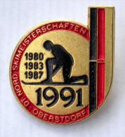 Nadel Badge Deutsche Nordische Skimeisterschaften 1991 Oberstdorf Im Allgäu DSV Deutschland Wintersport Nordic Combined - Wintersport