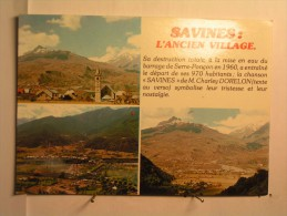 "Savines - L'ancien Village - Au Dos : Chanson "" Savines "" De Ch Dorelon - Francia"