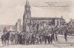 BACCARAT L'EGLISE ET LE CENTRE DE LA RUE DES PONTS APRES LE BOMBARDEMENT(DIL177) - Baccarat