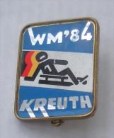 Nadel Badge Naturbahnrodel-WM-1984 Kreuth Rodeln Rennrodeln Sledding Wintersport Weltmeisterschaft Naturbahnrodeln Sport - Wintersport