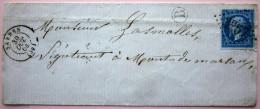 CACHET TYPE 15 + GC 3257 + Boite Rurale  --  SABRES  --  LANDES  --  LSC  --  1864 - Storia Postale