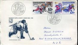 6187 Ceskoslovensko  ,  Cover Circuled 1978   Hockey On Ice,  Ice Hockey - Hockey (sur Glace)
