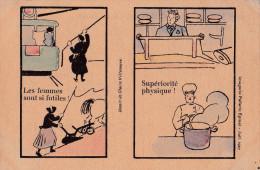 - ILLUSTRATEUR - Ligue D´Action Féminine Pour Le Suffrage , Carte Politique , Les Femmes Sont Des Etres Faibles - Illustrators & Photographers