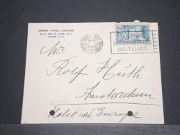 FRANCE - HONGRIE - Env Par Avion Pour Budapest - Entête Hotel - Avec Trous De Classement - Juin 1937 - A Voir - P17281 A - Marcophilie