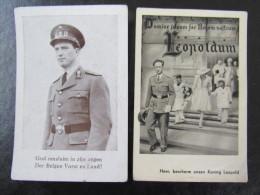 Koning Leopold Gebedskaartjes 1940-1946 WOII - Documents Historiques