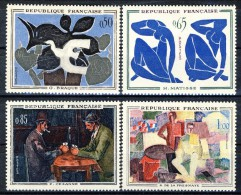 Francia 1961 Serie N. 1319-1322 Opere Di Pittori Moderni MLH GO Catalogo € 15 - Ungebraucht