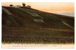 Cpa   Vendanges Et Travail Du Vin En Chamapgne  Les Vignes  ( Moulin )  BE - Francia