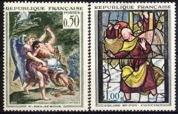Francia 1963 Serie N. 1376-1377 Opere D'arte MH GO Catalogo € 9 - Ungebraucht