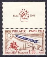 Francia 1964 N. 1422 F. 1+3 Philatec MNH GO Con Vignetta Catalogo € 30 - Ungebraucht